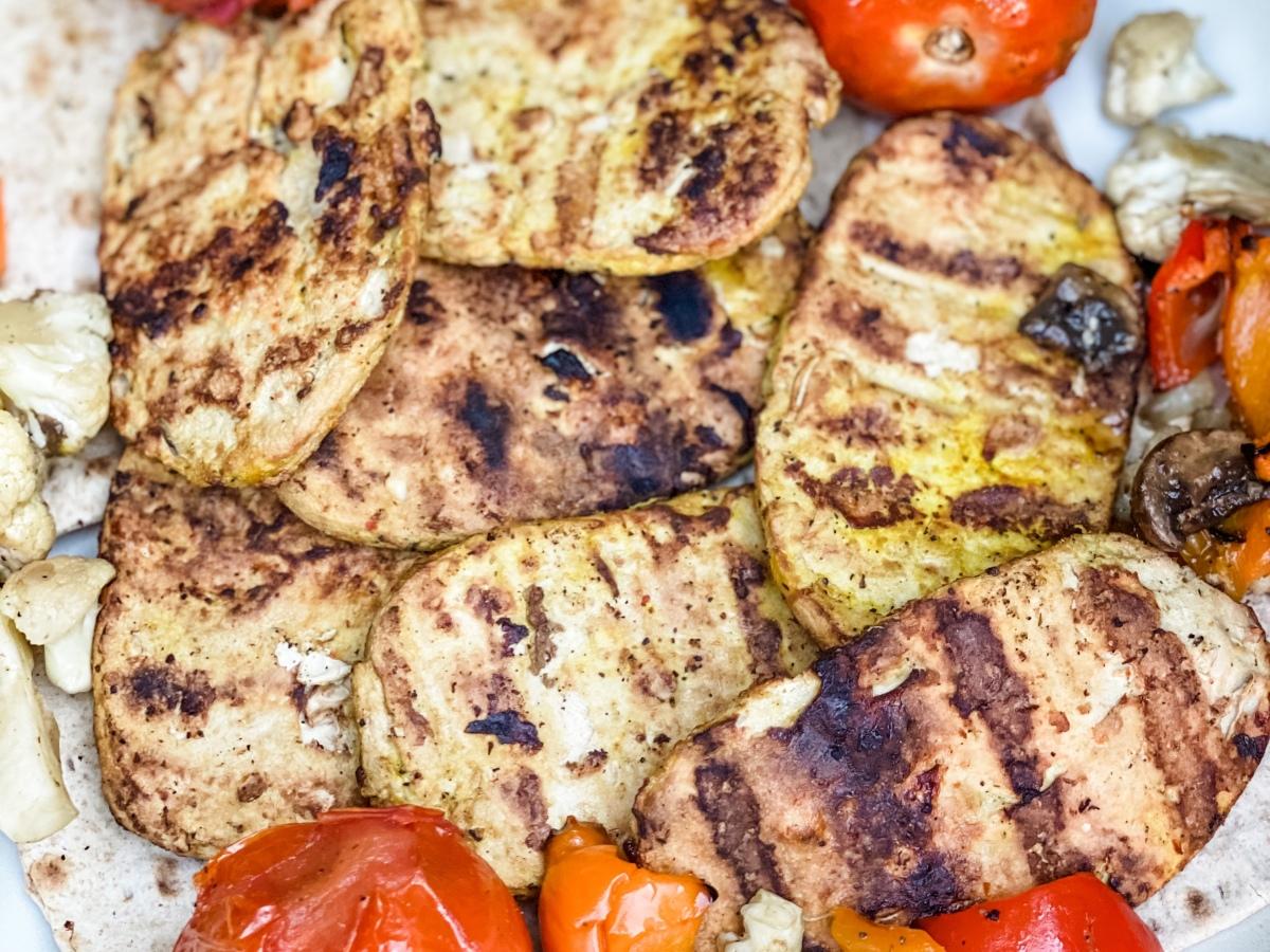Vegan Persian Joojeh Chicken Kabob