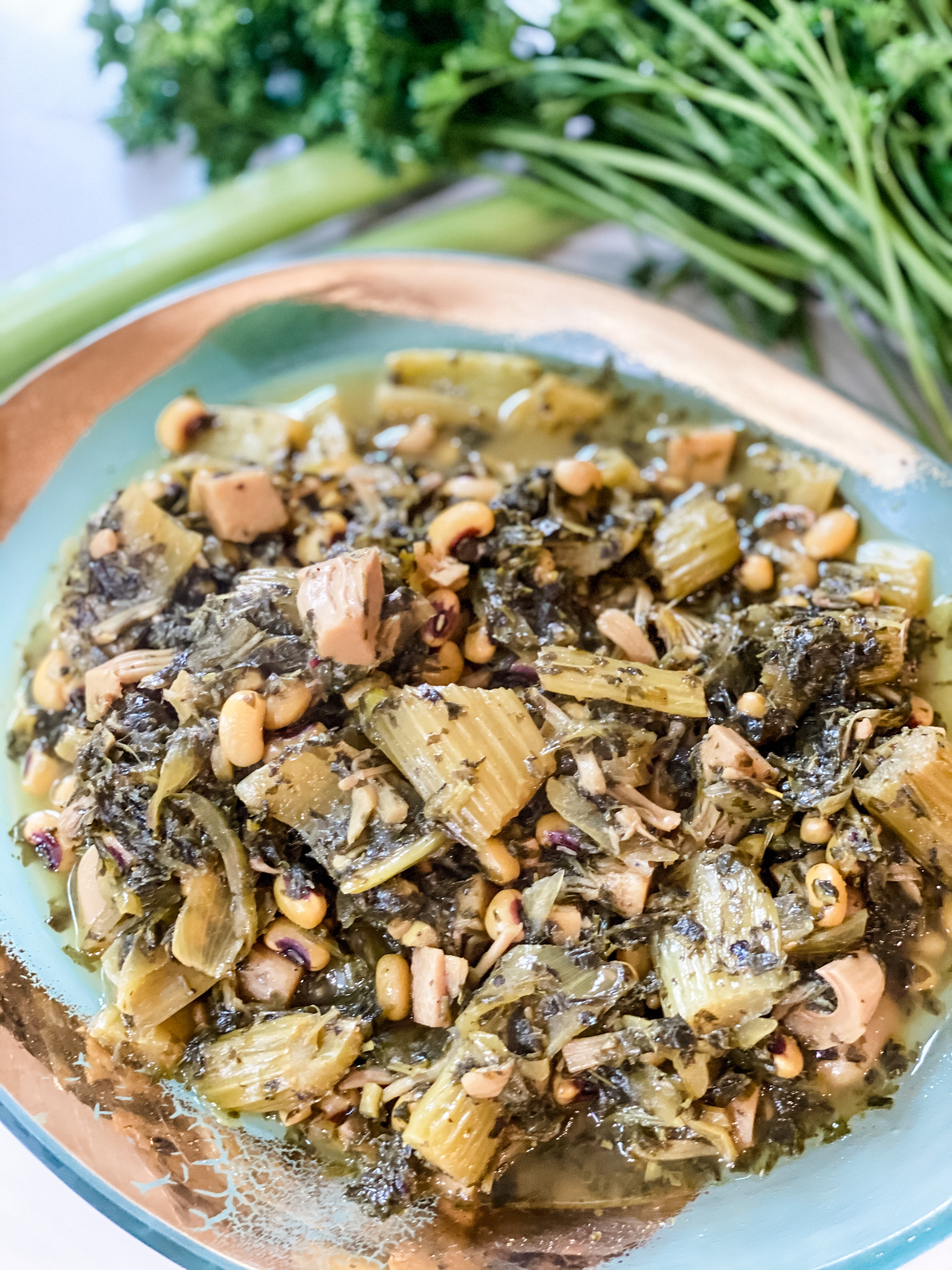 Vegan Persian Food Celery Stew