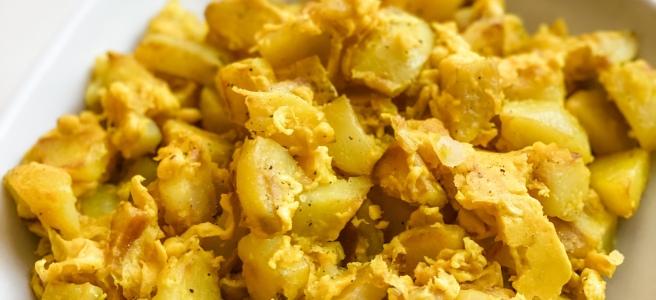 Vegan Just Eggs and Potatoes