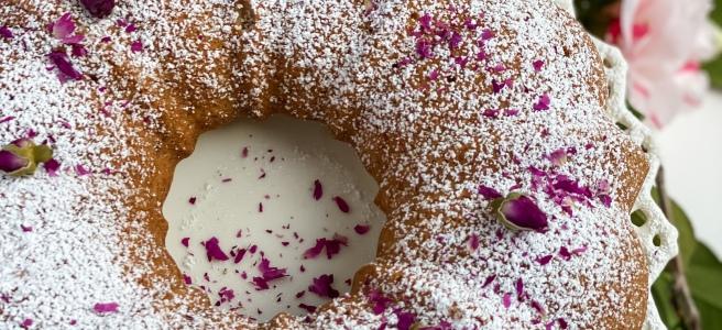 Persian Rosewater bundt cake