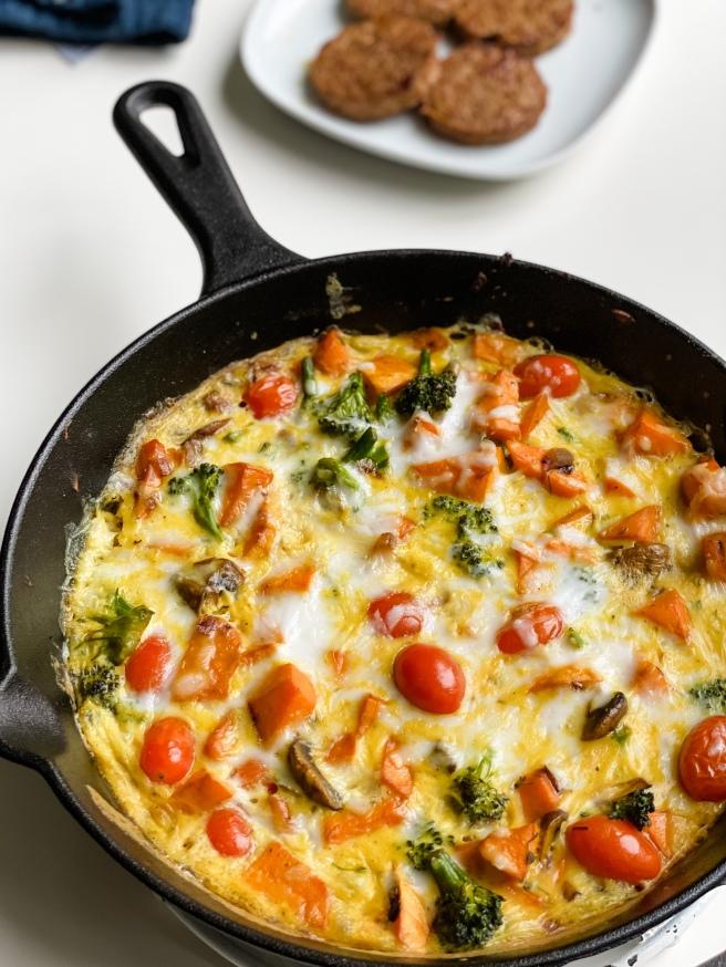 Vegan egg-free fritatta