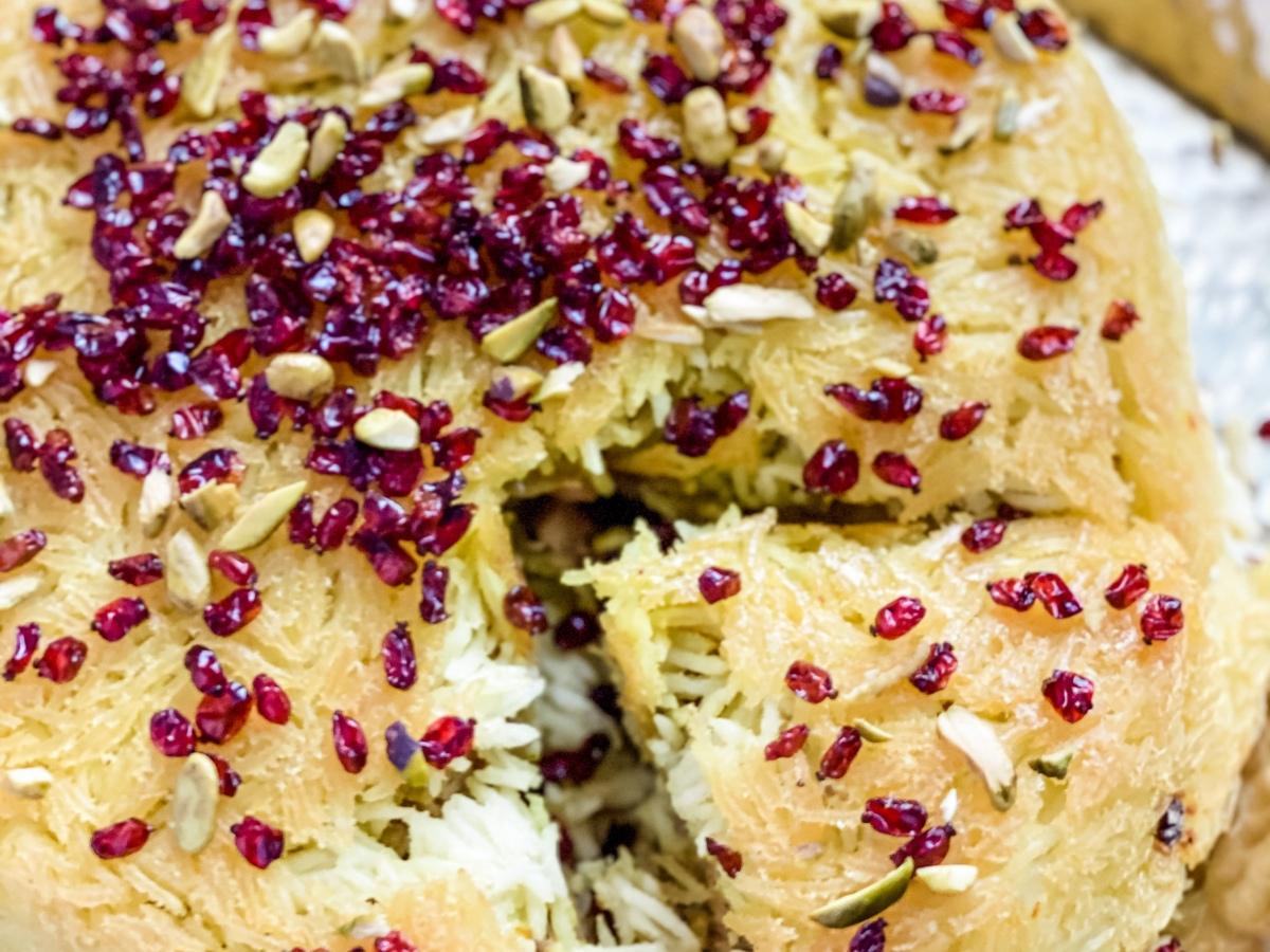 Vegan Tachin (Persian Crispy Rice)
