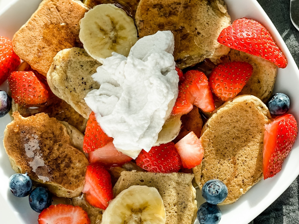 Vegan baby pancakes